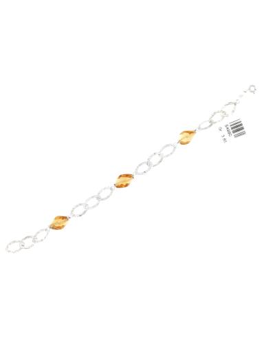 Bracciale Donna Oro Bianco 18Kt  maglie martellate peso 3,65 gr S4990
