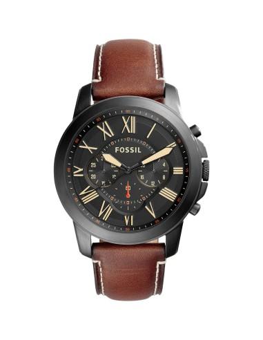 Orologio Uomo FOSSIL Cronografo Uomo Grant FS5241 - Pelle Marrone