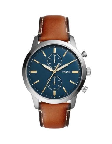 Orologio Uomo FOSSIL cronografo townsman cassa acciaio cint pelle FS5279