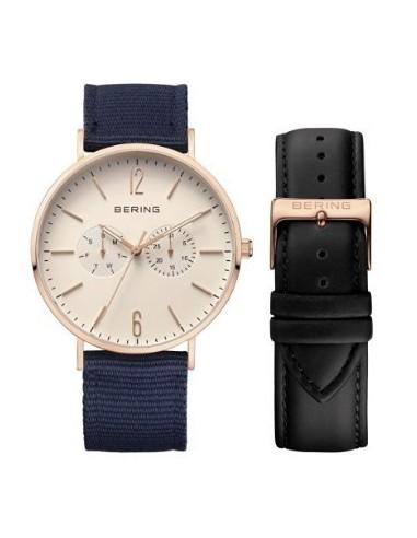 Orologio uomo BERING  cinturino di ricambio quad. beige 14240-664