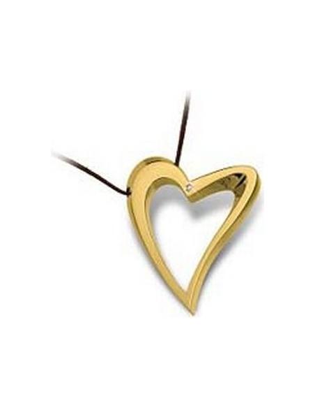 Collana Donna BROSWAY  BDE04 Cuore Acciaio placcata in Oro e Diamante