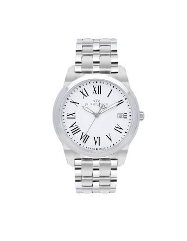 Orologi Philip-watch Uomo R8253495002 UOMO TIMELESS GENT 38mm 3H WHITE DIAL SS BR ACCIAIO ACCIAIO MAXI