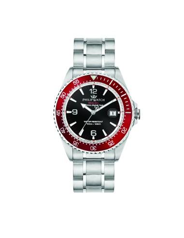 Orologi Philip-watch Uomo R8253209002 UOMO SEALION 42mm 3H BLACK DIAL BR SS ACCIAIO ACCIAIO MAXI
