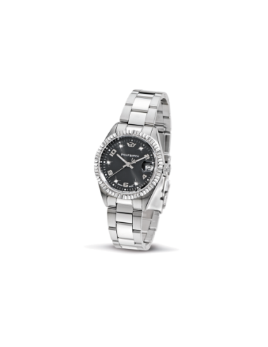 Orologi Philip-watch Donna R8253597504 DONNA CARIBE LADY 3H BLACK DIAL/BRAC ACCIAIO ACCIAIO MAXI