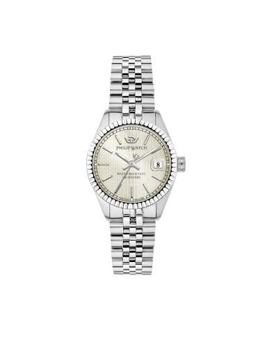 Orologi Philip-watch Donna R8253597539 DONNA CARIBE 31mm 3H SILVER DIAL SS BR ACCIAIO ACCIAIO MAXI