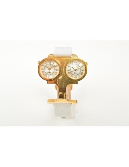 Orologio Donna O.I.W. W11128 Cassa in Acciaio con Doppio Quadrante Fuso Orario