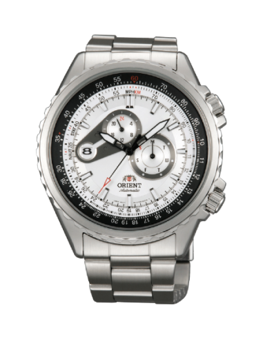 orologio uomo bianco ORIENT FET0M001W0 cassa e cinturino in acciaio