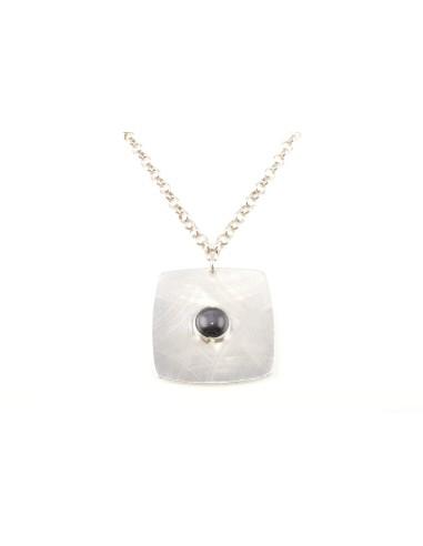 Collana Donna in Acciaio MOOBY VS002-B Pendente con Cristallo Nero