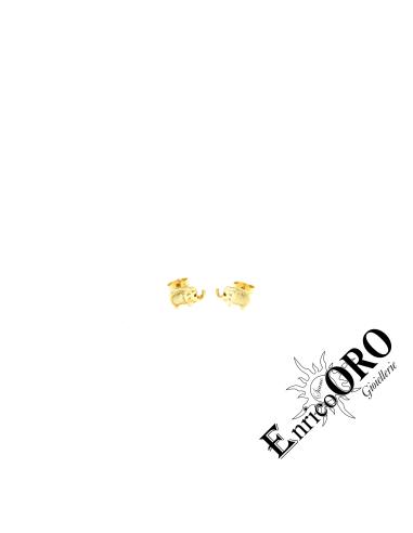 ORECCHINO DONNA V2283 ORO 750┬░ GIALLO ELEFANTE Enrico Oro MEDI
