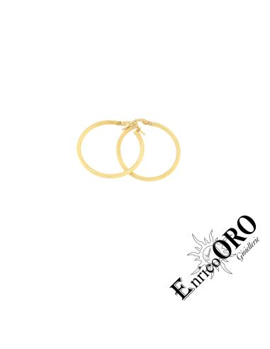 ORECCHINO DONNA R767 ORO 750┬░ GIALLO PUNTINATO Enrico Oro MEDI