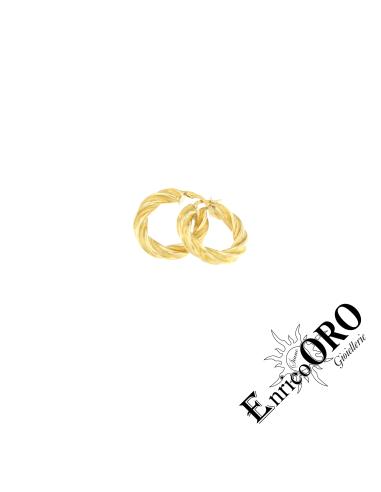 ORECCHINO DONNA K0137 ORO 750┬░ GIALLO SATINATO+LUCIDO Enrico Oro MEDI