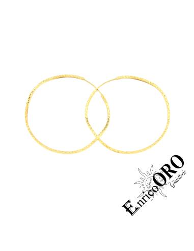 ORECCHINO DONNA V1192 ORO 750┬░ GIALLO MARTELLATO Enrico Oro MEDI