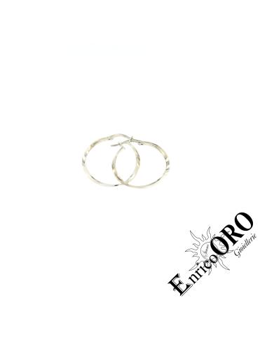 ORECCHINO DONNA N575 ORO 750┬░ BIANCO LUCIDO Enrico Oro MEDI