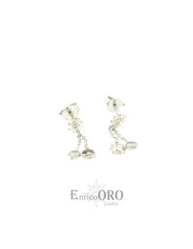 ORECCHINO DONNA KX160764 ORO 750┬░ BIANCO COCCINELLE PENDENTI Enrico Oro MEDI