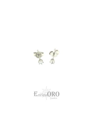 ORECCHINI DONNA X19333 ORO 750┬░ BIANCO  Enrico Oro MEDI