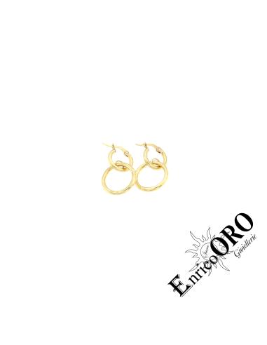 ORECCHINI DONNA X19403 ORO 750┬░ GIALLO  Enrico Oro MEDI