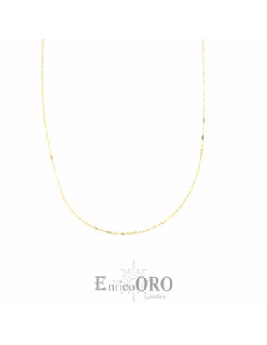 CATENA UNISEX ORO 750 GIALLO MIS 45  Enrico Oro X18.00704 MEDI