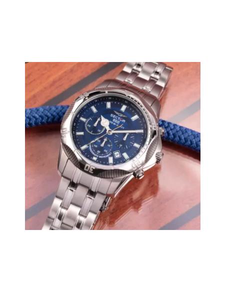 OROLOGIO SECTOR  R3273981006 44MM CHRO BLUE DIAL BR SS ACCIAIO BIANCO UOMO