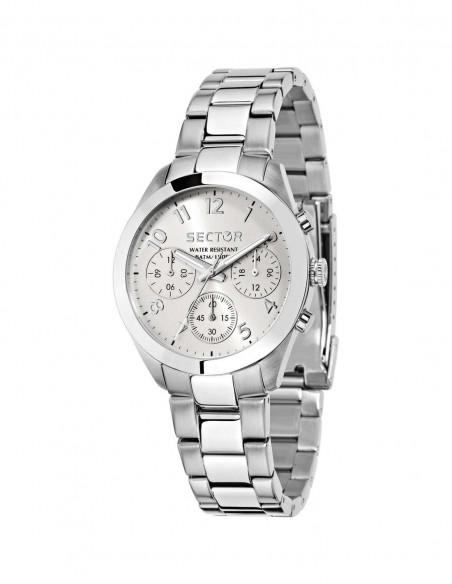 OROLOGIO SECTOR  R3253588502 36MM MULT SILVER DIAL BRACELET SS ACCIAIO BIANCO DONNA