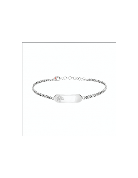 BRACCIALE SECTOR  SZS55 BASIC BR SS TAG TREE OF LIFE ACCIAIO BIANCO DONNA