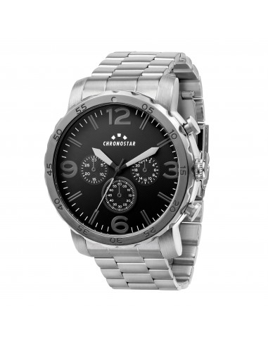 CASUAL 49 MM 3H BLACK DIAL BR SS